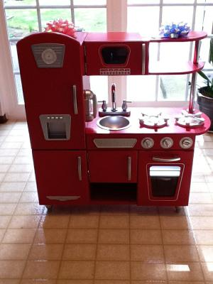 KidKraft Vintage Play Kitchen   Red   Walmart.com