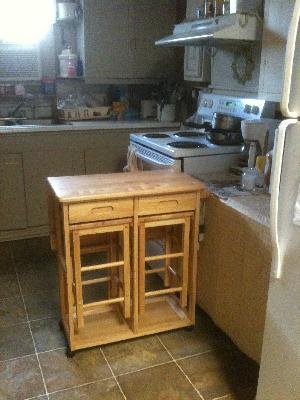 Space Saver Kitchen Table Winsome wood suzanne 3 piece space saver set teak finish walmart workwithnaturefo