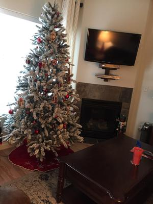 excellent holiday time prelit u green flocked birmingham fir artificial christmas tree clear lights walmartcom with christmas trees at walmart - Flocked Christmas Tree Walmart