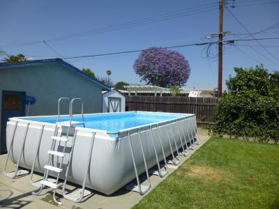 Intex pools clearance today only score the 12 x 30 intex - A rectangular swimming pool is 30 ft wide ...