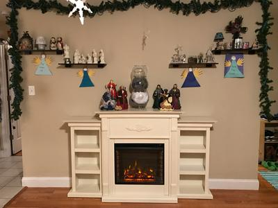 Southern Enterprises Tennyson Ivory Electric Fireplace with Bookcases -  Walmart.com - Southern Enterprises Tennyson Ivory Electric Fireplace With
