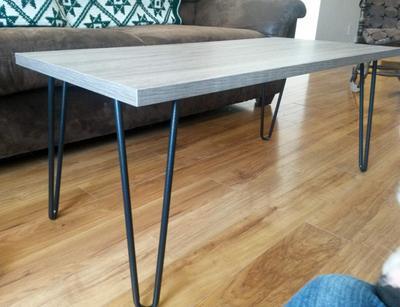 Ameriwood Home Owen Retro Coffee Table Distressed Gray Oak