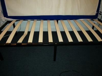 wooden slat bed frame black walmartcom