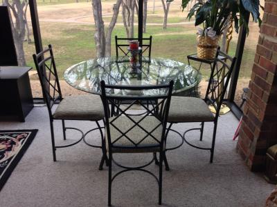 mainstays 5 piece glass top metal dining set walmartcom - Dining Room Set Walmart