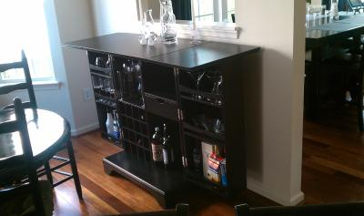 Crosley Furniture Lafayette Expandable Bar Cabinet