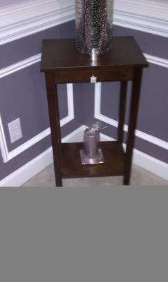 Rosewood Tall End Table Coffee Brown Walmartcom