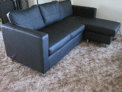 Small Spaces Microfiber Sectional Home Ideas Designs
