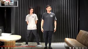 尾崎(左)178cm、65kg 着用サイズLG 松坂(右)177cm、85kg 着用サイズXXL