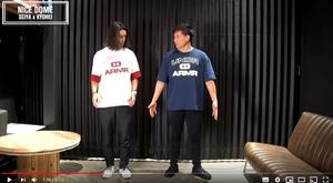 尾崎(左)178cm、65kg 着用サイズMD 松坂(右)177cm、85kg 着用サイズLG