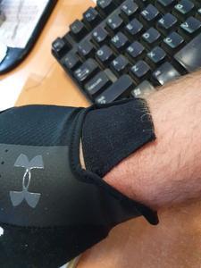 Torn glove