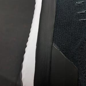 The black paint line is not straight and you can clearly see a little indent