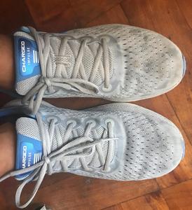 mis nuevas zapatillas para el entrenamiento en casa