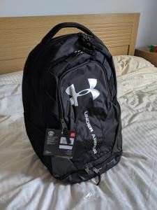 The bag after putting the DSLR camper and 2 lenses